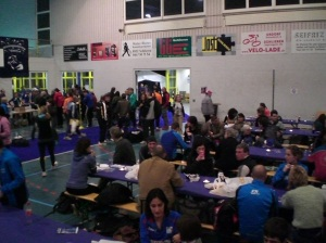 Sports Halle Unterrohr - starta un finiša vieta