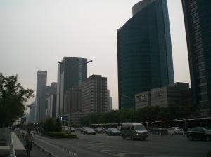 Pekinas centrs - daudz lielu māju